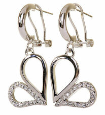 Swarovski Elements Crystal Abstract Heart Loops Pierced Earrings Rhodium 7131y