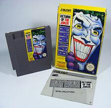 Batman return of the joker pour NINTENDO NES module avec manuel et emballage d'origine