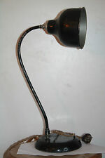 ancienne lampe de bureau 1950 60 noir rotule vintage lamp design style guariche
