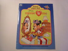Minnie and Me, Deluxe Paper Dolls, 1990, Softcover, whitman