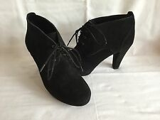 MARKS & SPENCERS FOOTGLOVE BLACK SUEDE LACE UP SHOE BOOTS BNWTS SIZE 3.5