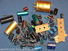Assortimento condensatori elettrolitici Elkos,100 Pezzi,molti differenti Valori