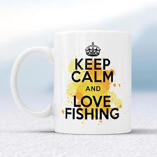Keep Calm And Love FISHING Splash Mug Gift Fisher Angler Fish Cup Present