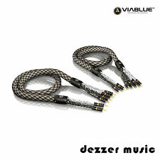 ViaBlue 2x 1,50m SC-6 Air Silver Bi-Wire Lautsprecherkabel / High End Referenz
