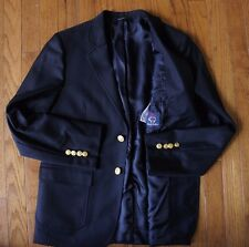 16 BROOKS BROTHERS Boys Fleece Navy Super 120s ITALY ING LORO PIANA Gold Blazer