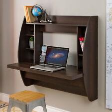 Brown Floating Wall Mount Storage Desk Dorm Room Home Living Bedroom Furniture