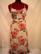 Aeropostale Womens Dress Floral Sun  Sz S Full Length Rayon Petite Lined Spring