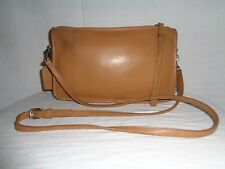 Auth. Coach 9455 Vintage Classic Basic Bag Cross body Brown Leather Purse.