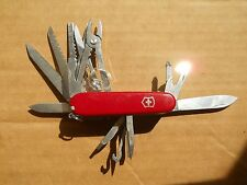 Victorinox Swiss Champ Swiss Army knife in red - new style glass, free classic
