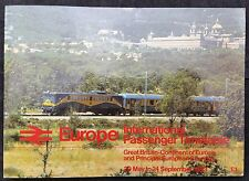 May - Sep 1983 British Rail Europe International Passenger Timetable Continental