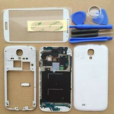 White Full Housing Case Cover + Screen Glass For Samsung Galaxy S4 ATT I337 M919