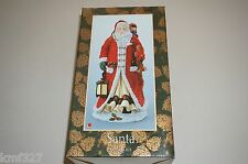 "JC Penny Resin Santa Claus Figurine with Org Box - Santa W/Lantern 10 1/2"" Tall"