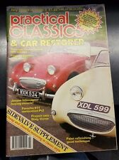 PRACTICAL CLASSICS & CAR RESTORER JULY 1989 JENSEN INTERCEPTOR FROGEYE SPRITE