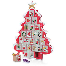 CHRISTMAS TREE WOODEN ADVENT CALENDAR 24 DRAWERS HAND PAINTED 45cm HIGH Tobar