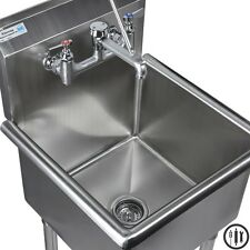 "Stainless Steel Mop Sink,Service Sink Faucet, and Mop Accesories- 18"" x 18"""