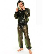 100% Latex Rubber Gummi Jacket Shirt Coat Catsuit Pants Jeans Uniform Costume