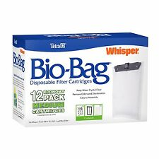 Tetra Whisper Unassembled Bio-Bag Filter Cartridges Medium, 12-Pack {26160} NEW