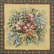 """20"""" DECORATIVE TAPESTRY PILLOW COVER Wild Rose Flowers EUROPEAN CUSHION ACCENT"""