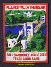 LMH Patch  2001 GOOD SAM CLUB Fall Samboree Rally  WACO TX Sams  BRAZOS Festival