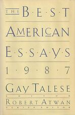 """The Best American Essays 1987"" SIGNED by Tom WOLFE, John BARTH and Robert STONE"