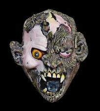 Mens Demon WOLF SKULL FACE Latex Mask Adult Teen Halloween Costume Accessory