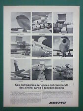 7/64 PUB BOEING CARGO 707 AIR FRANCE TWA SABENA QANTAS PAN AM AIRLINES FRENCH AD