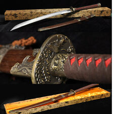 45' FOLDED  forged   Damascus STEEL FULL TANG CHINESE SWORD DRAGON PHOENIX DAO
