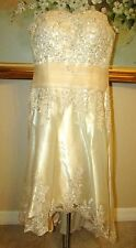 NWT LIGHT IN A BOX CHAMPAGNE STRAPLESS SWEETHEART NECKLINE WEDDING DRESS SIZE 14