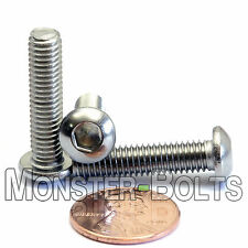 6mm x 1.00 x 25mm - Qty 10 - A2 Stainless Steel BUTTON HEAD Screws  M6-1.0 x 25