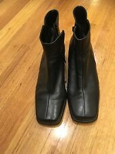 Gabor Boots Size 38 Or 7 ( 5 Uk) Leather Low Heels Shoes Good Condition Black