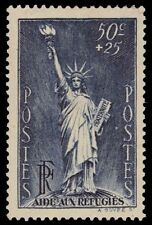 "FRANCE B44 (Mi357) - Political Refugees Fund ""Statue of Liberty"" (pf68950)"