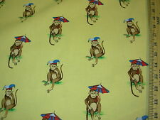 "~BTY~SUBURBAN~ ""MONKEYS"" ANIMAL~100% COTTON UPHOLSTERY FABRIC~FABRIC FOR LESS~"