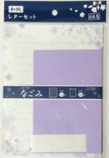 Letter Set Washi Japanese paper Nagomi Purple Stationery Japan