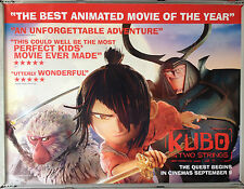Cinema Poster: KUBO AND THE TWO STRINGS 2016 (Review Quad) Charlize Theron Matth