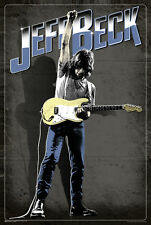 (LAMINATED) JEFF BECK POSTER (91x61cm) FENDER STRATOCASTER PICTURE PRINT NEW ART