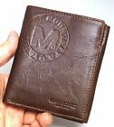 Leather Mens Wallets Coin Pocket Credit Card Holder Full Zippered Purse-MJ3082