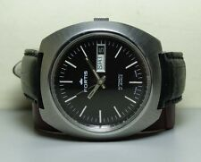 VINTAGE FORTIS AUTOMATIC DAY DATE SWISS MENS WRIST WATCH H572 OLD USED ANTIQUE