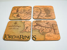 Lord of the Rings Milieu Terre Carte Set de sous-verres