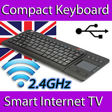 ZOOM ZDTV WIRELESS MINI KEYBOARD TOUCHPAD FULL UK LAYOUT SPECIAL KEYS SMART TV