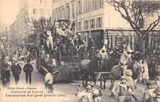 CPA 06 CARNAVAL DE CANNES 1909 LES SURPRISES D'UN GARDE FORESTIER CHAR