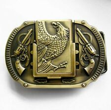 Buckle Eagle, Eagle with Petrol lighter, Belt Buckle