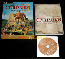 SID MEIER'S CIVILIZATION III 3 Pc Versione Italiana Big Box ••••• COMPLETO