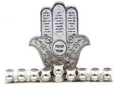 JEWISH HANUKKAH MENORAH Judaica Hanukiah Chanukkiyah chanukah hannukah silver