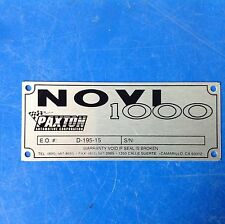 Paxton Supercharger Novi 1000 Nameplate