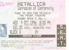 Metallica-The Point Theatre,Dublin 1996, Repro Concert Ticket