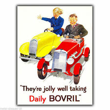 METAL SIGN WALL PLAQUE DAILY BOVRIL Vintage Retro poster Advert Kitchen 1927