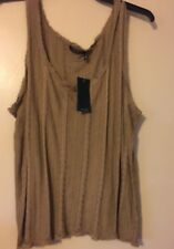 NWT Lauren Ralph Lauren Cliff Tan Sleeveless Sweater Tank Top Size 3X