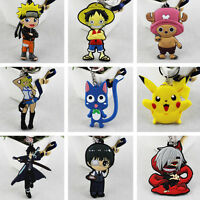 Gift Anime Fans Cute Pinched PVC Keychain Cartoon Keyring Death Note Fairy Tail