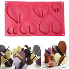 3D Xmas Heart Fondant Cake Chocolate Sugarcraft Mold Cutter Silicone Tool Decor.