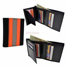 Firefighter Wallet Bunker Turnout Gear  Leather Bifold Fire Department Material
